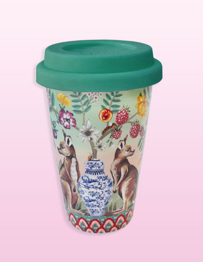 Serendipity design travel mug
