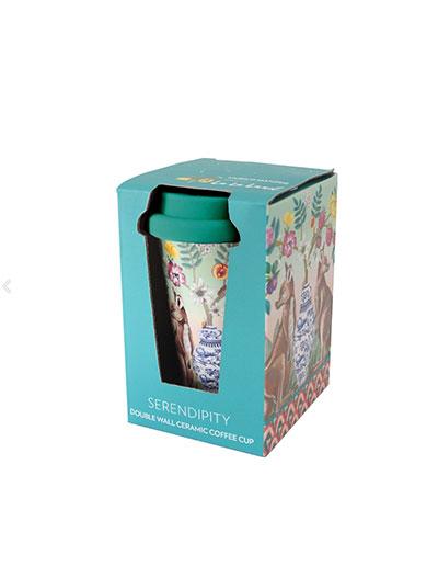 Serendipity design travel mug in gift box