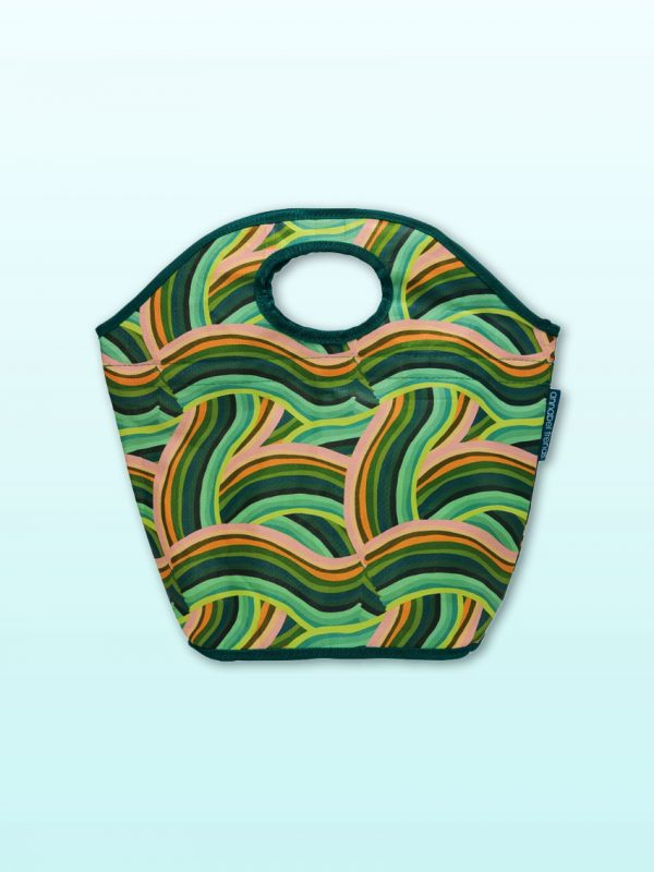 Curved lines lunch bag
