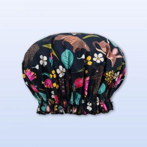 Nocturnal design shower cap