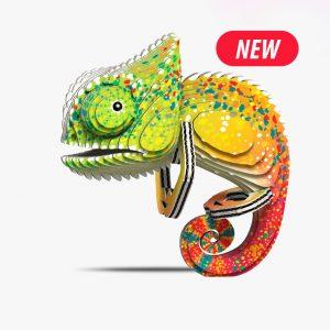 a cardboard Chameleon Eugy kit.